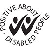 Positive about disabled people logo