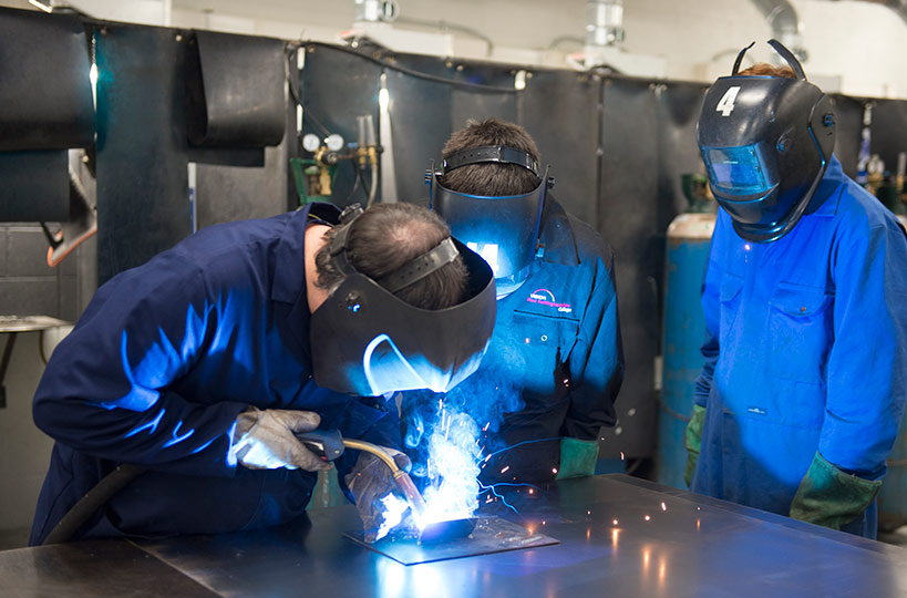 Personal protective equipment ensures our fabrication and welding students develop the specialist skills needed for industry, safely.