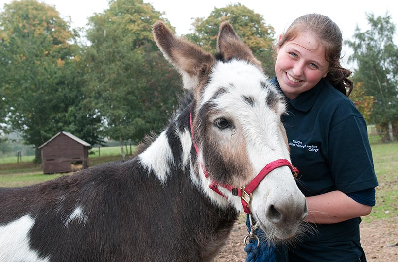 Animal care students enjoy work placements with local working farms and farmyard attractions.