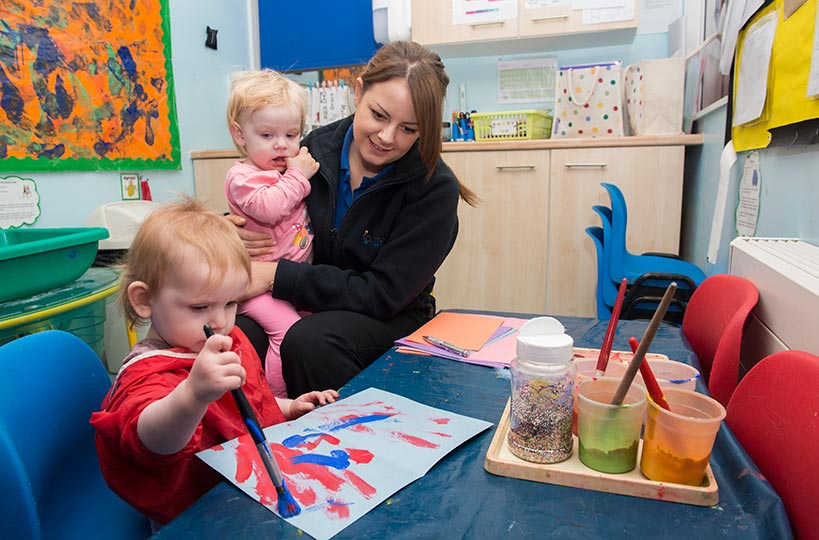 Childcare and early years students are invited to take up placements in local childcare and educational settings - giving them the skills you won't get from textbooks!