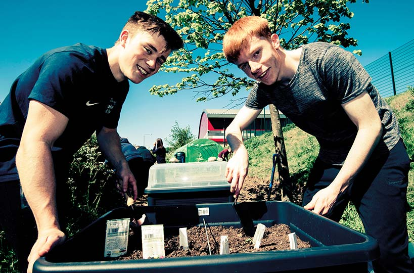 Students have created a volunteer-led gardening space called 'The Patch'