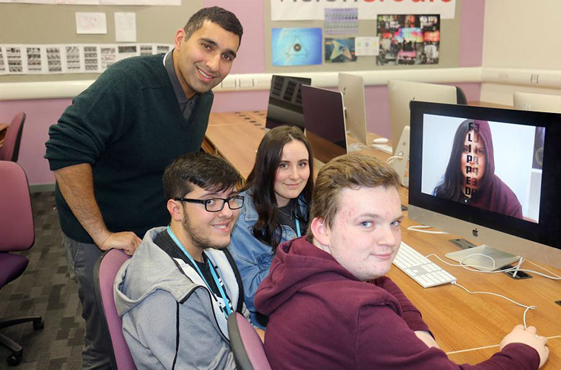 In January 2019, Baasit Siddiqui (one of the regulars on C4's Gogglebox) visited our creative students to host an innovative workshop, 'Let's Pitch It'.