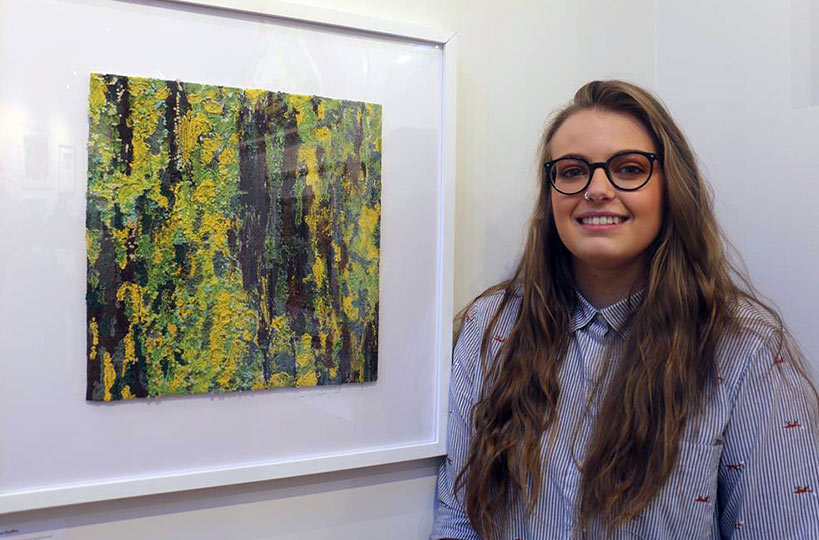 Art and design student Ellie-Rose's 3D Textile piece, Lichen, was selected by judges to be hung alongside the works of other aspiring artists in Nottinghamshire's Harley Gallery as part of their 2019 Open Exhibition.