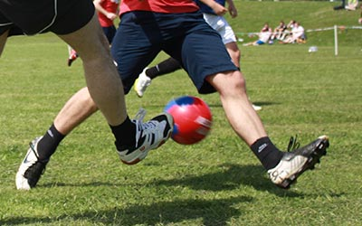 photo of a football tackle