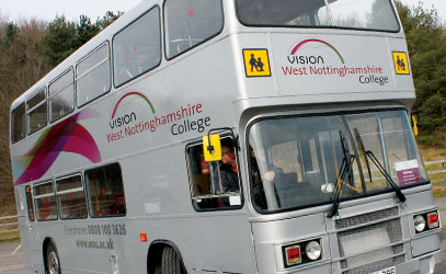 photo of one of the college buses
