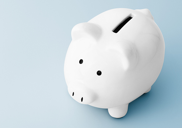 Image of a piggy bank on a blue background