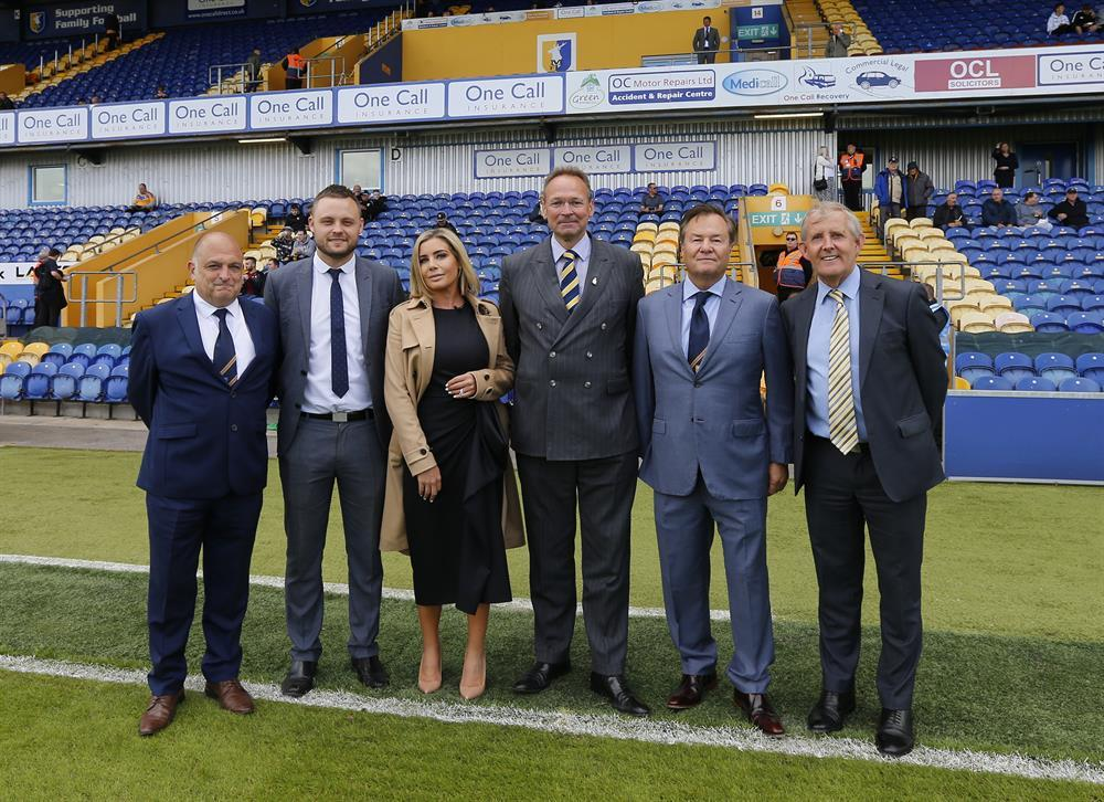 L-R: Mark Hawkins (Stags' academy director), Ben Bradley (Mansfield MP), Carolyn Radford (Stags' CEO), Andrew Cropley (West Nottinghamshire College principal and CEO), John Radford (Stags' chairman), and Chris Ball (Stags' academy head of education)