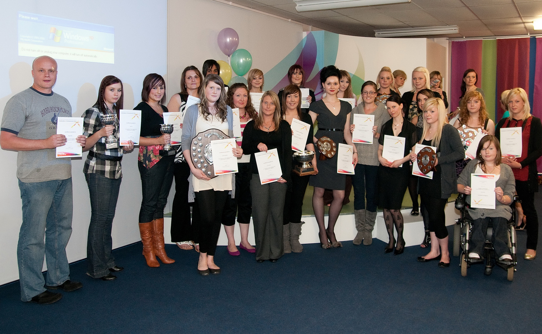 Hairdressing and beauty therapy students celebrate success for 365 salon success