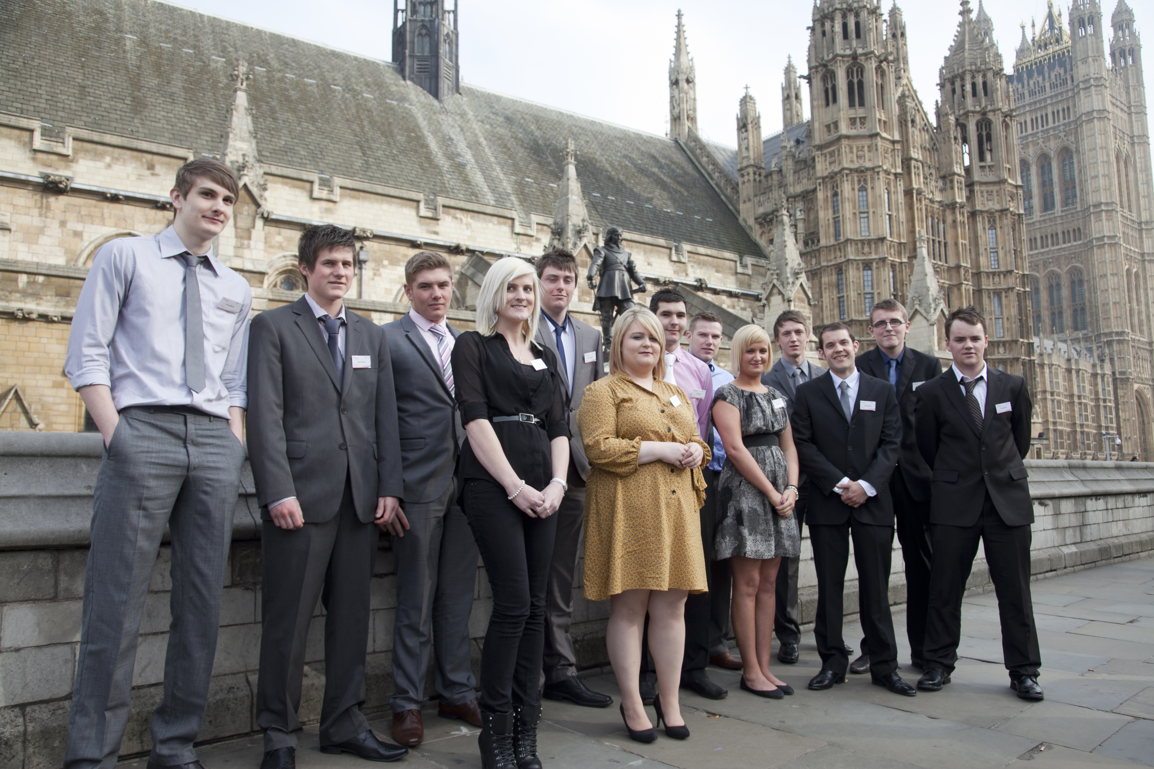 Star apprentices outside the House of Lords