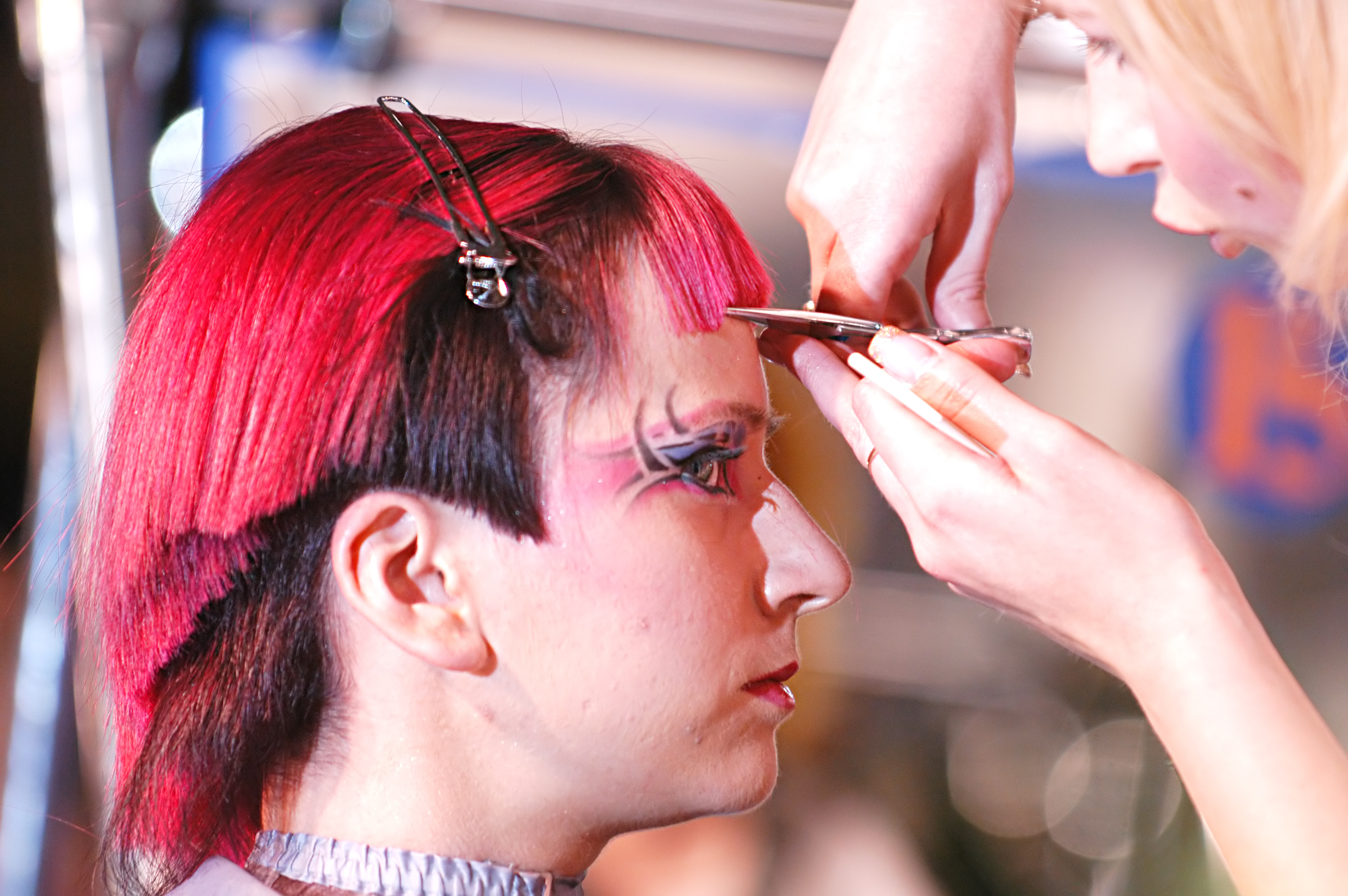 Hairdressing students will be putting their skills to the test