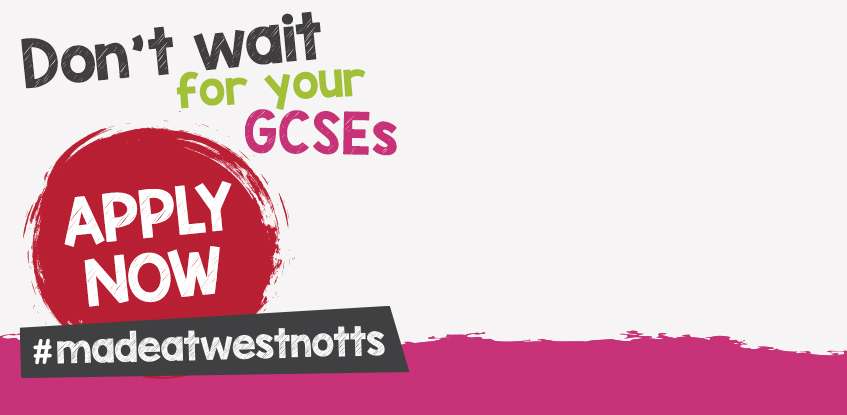 Don't wait for your GCSE results - apply now!