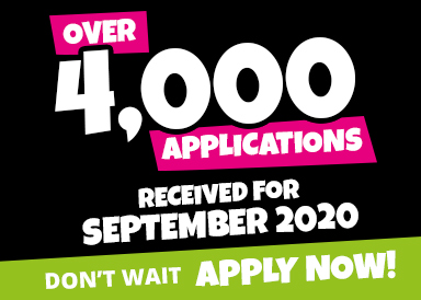 We've already received over 4,000 applications for September 2020. Apply now.