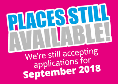 Places still available for September 2018.