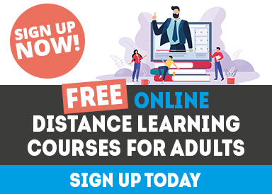 Sign up for a free online distance learning course.